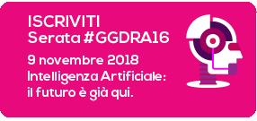 iscriviti alla GGDRA16 Intelligenza Artificiale